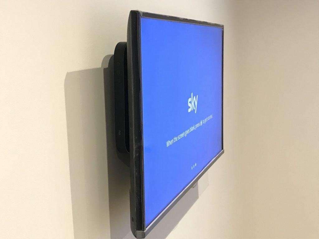 Sky Q mini box behind the TV